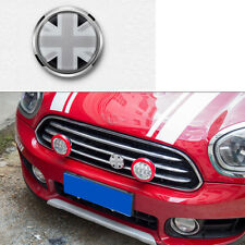 Metal Auto Car Truck Front Grille Emblem Badge Decal Black Union Jack British UK