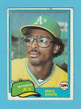 BASEBALL - TOPPS  GUM  -  MIKE  DAVIS  -  OUTFIELD  -  A's  -  1981