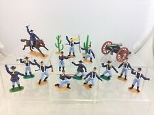 Lot Timpo Toys Wild West US Cavalry Mounted & Troopers Toy Soldiers