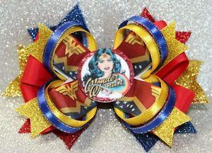 Wonder Woman Themed Handmade Hairbow Hair Bow