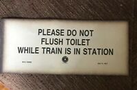"""PLEASE DO NOT FLUSH TOILET WHILE TRAIN IS IN STATION"" - 1917 Paper RAILROAD 🚞"