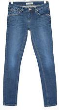 Topshop SLIM SKINNY BAXTER Dark Blue Low Rise Stretch Jeans Size 10 W28 L32