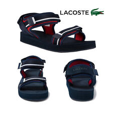 Lacoste Mens Suruga Textile Sandals Open Toe Adjustable Strappy Beach Pool Shoes