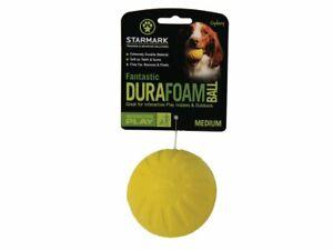 StarMark Fantastic Foam Ball Dog Toy Extremely Durable Bounces Floats Medium