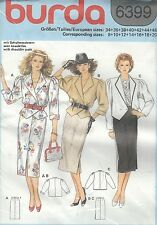 burda 6399 Misses' Jacket and Skirt  8 to 20     Sewing Pattern