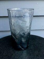 "Vintage Morgantown Crinkle Seneca Driftwood mid cent glass tumbler smoke 5"""