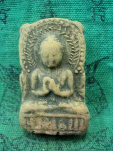 Buddha Gupta Figure Terracotta India Buddhist Talisman Old Thai Amulet