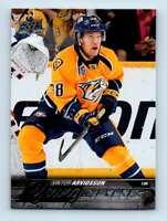 2015-16 Upper Deck Young Guns Viktor Arvidsson RC #222