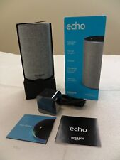 * NEW OPEN BOX * Amazon Echo 2-Way Smart Speaker 2nd Generation - Heather Gray