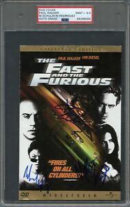 Paul Walker Signed DVD Cover PSA/DNA Encapsulated Auto Grade 10 Fast & Furious