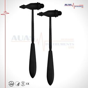 02 Pcs Tromner Reflex Hammer,Neurological,Medical,Diagnostic,23.5 cm,BLACK