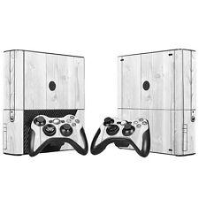 Xbox 360 E Skin Design Foils Sticker Screen Protector Set - White Wood Motif