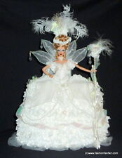 ~GORGEOUS~ White Empress Alstromeria OOAK Marie Antoinette Barbie Doll ~FFF