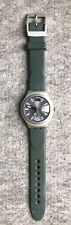 Swatch Irony Watch, Silver Dial w Teal Band, Exc Cond (& needs battery)