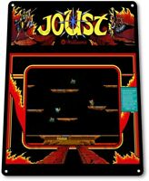 Joust Classic Bally Midway Arcade Marquee Game Room Wall Decor Metal Tin Sign