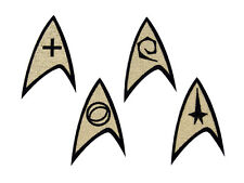 Star Trek Insignia: Command, Science, Engineering or Medical Embroidered Iron On