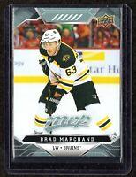 2019-20 Upper Deck MVP #9 Brad Marchand Boston Bruins Hockey Card MINT
