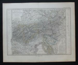 Antique Map: Stieler's 1873 South-East Germany & North Italy by Hermann Berghaus