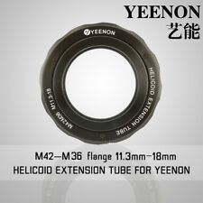 【YEENON】M42 to M36 x 11.3mm Focusing Helicoid Macro Extension Tube