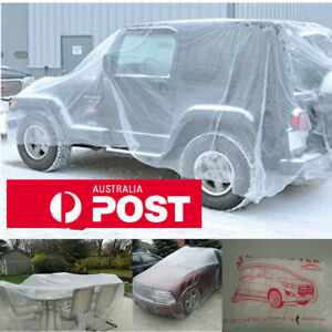 Large Size Clear Plastic Temporary Disposable SUV Car Cover Waterproof 4.8m*7.5m