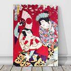 "Japanese Kabuki Art CANVAS PRINT 16x12"" Two Actors ~ Kunichika #12"