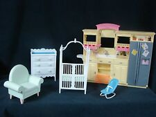 Barbie Happy Family Midge Play all Day Nursery Dresser Crib Bouncer