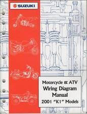 2001 Suzuki Motorcycle & Atv Wiring Diagram K1 Manual