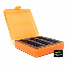 CARLSON'S SHOTGUN CHOKE TUBE CASE 3 EXTENDED OR 6 FLUSH PADDED ORANGE PLASTIC