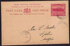 DOMINICA 1910 1d Edward VII (1902-1910) pre-paid PC GPO 21 Apr 1910