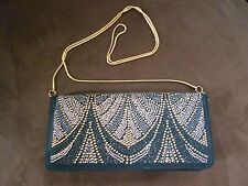 White House Black Market Studded Faille Bag Clutch Purse Handbag NWT
