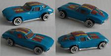 Hot Wheels – ´63 / 1963 Chevy Corvette blau Weißwand