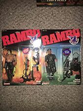 "VINTAGE 85/86 COLECO RAMBO FORCE OF FREEDOM 7"" ACTION FIG COL TRAUTMAN MOC (2)"
