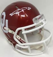 CEEDEE LAMB Autographed Oklahoma Sooners Mini Speed Helmet FANATICS