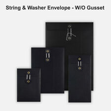 More details for dl c5 c6 quality string&washer without gusset envelope button tie black color