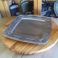 "Longaberger 13"" Square Platter Tray Traditions Aluminum Metalware Oven Freezer"