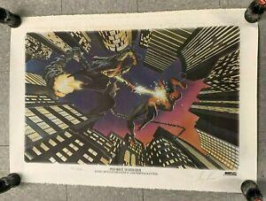 1995 MARVEL SPIDER-MAN VS GREEN GOBLIN 26 X 37 SIGNED BY (ROSS & ROMITA) W/COA