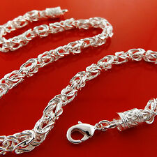 FSA928 GENUINE REAL 925 STERLING SILVER SF SOLID ANTIQUE STYLE NECKLACE CHAIN