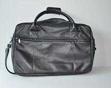 Stilvoll Reisen PICARD JET 2001 Ledertasche schwarz Kurztrip-Reisetasche