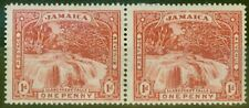 More details for jamaica 1900 1d red sg31 fine mtd mint pair