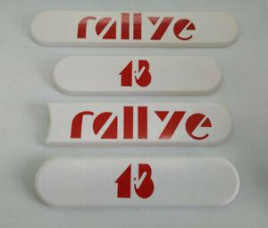 ⭐🇫🇷 NEUF 4x ENJOLIVEURS DE CUSTODES RALLYE 1.3 PEUGEOT 205 BLANC ROUGE LOGOS