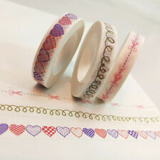 New Decorative Lace Roll Washi Sticky Paper Masking Adhesive Tape Craft DIY