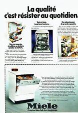 PUBLICITE ADVERTISING 0217  1978  le lave vaisselle Miele