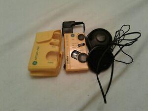 GE Pocket Portable Weatherized  AM/FM Radio Stereo (7-1990-YLA) w/case