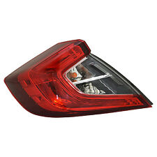TYC Left Side Tail Light Assy for Honda Civic Sedan 2016-2017 Models
