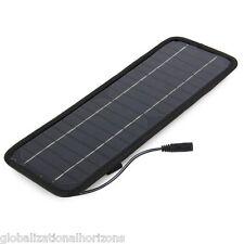 4.5W 12V Panel Solar Coche Cargador Batería Negro Exterior Camping Senderismo