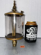 American Injector Co Brass Oiler Hit Miss Gas Engine Vintage Antique
