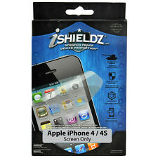 iShieldz Apple iPhone 4S Scratch Proof Screen Protector Kit New Retail Packaged
