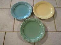 Lot of Three Universal Potteries Cambridge LAURELLA Bread Plates 6 5/8 inch