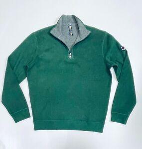 Ralph Lauren Men's Estate-Rib Quarter-Zip Pullover (Geen) RRP £125