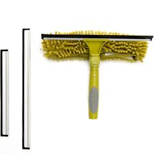 DocaPole Window Squeegee + Scrubber Combo Attachment for Extension Pole
